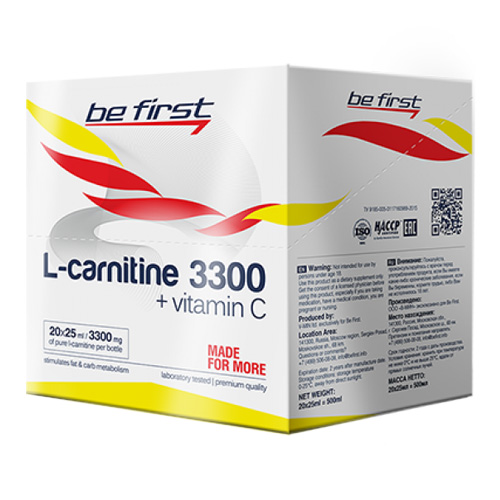 L-carnitine 3300, 20 амп. (Be First)