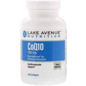 Lake Ave Nutrition CoQ10 100 mg 150 кап