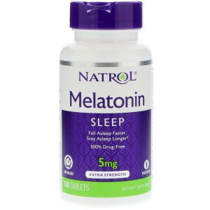 Melatonin 5 мг 100 табл. (Natrol)